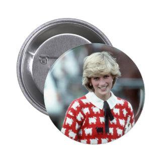 No.42 Princess Diana polo 1983 Button