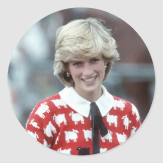 No.42 Princess Diana polo 1983 Classic Round Sticker