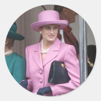 No.43 princesa Diana, castillo 1993 de Windsor Pegatinas Redondas
