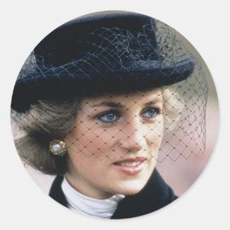 No.44 princesa Diana Francia 1988 Pegatina Redonda