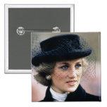 No.44 princesa Diana Francia 1988 Pin Cuadrada 5 Cm
