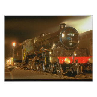 No. 45562 is idle in the small_Steam Trains Poster