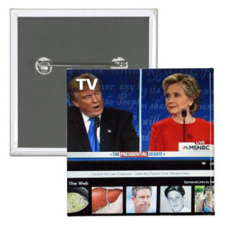 No. 45 del botón de la TV Pin Cuadrado
