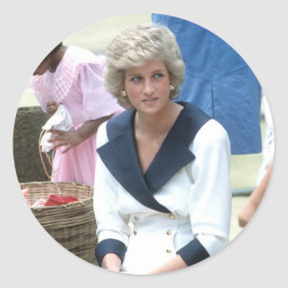 No.45 Princess Diana Australia 1988 Classic Round Sticker