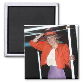 No.46 Princess Diana Hong Kong 1989 2 Inch Square Magnet