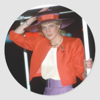 No.46 Princess Diana Hong Kong 1989 Classic Round Sticker