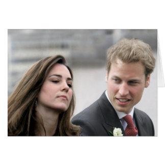 No.47 príncipe Guillermo y Kate Middleton Tarjeta De Felicitación