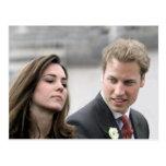 No.47 príncipe Guillermo y Kate Middleton Tarjeta Postal