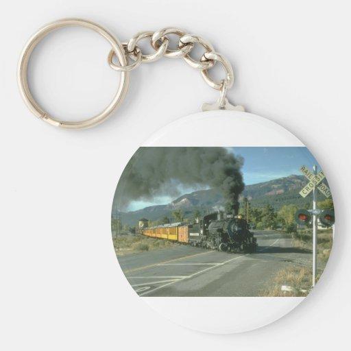 No. 481 crosses the highway north of Durango, Colo Key Chain