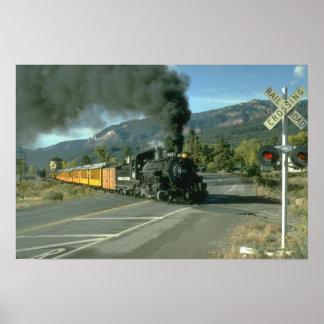 No. 481 cruza la carretera al norte de Durango, Co Poster