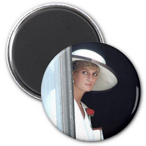 No.48 princesa Diana, Winchester, Inglaterra 19 Imán Redondo 5 Cm
