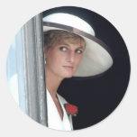 No.48 princesa Diana, Winchester, Inglaterra 19 Pegatina Redonda