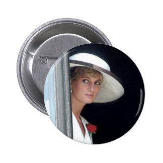 No.48 princesa Diana, Winchester, Inglaterra 19 Pin Redondo De 2 Pulgadas