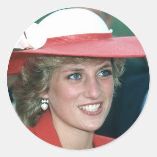 No.49 princesa Diana Sunderland 1985 Etiquetas Redondas