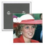 No.49 princesa Diana Sunderland 1985 Pin Cuadrada 5 Cm