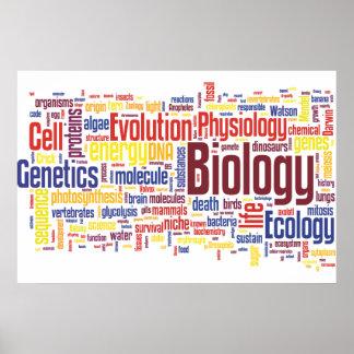 No. 4 de Wordle de la biología Póster