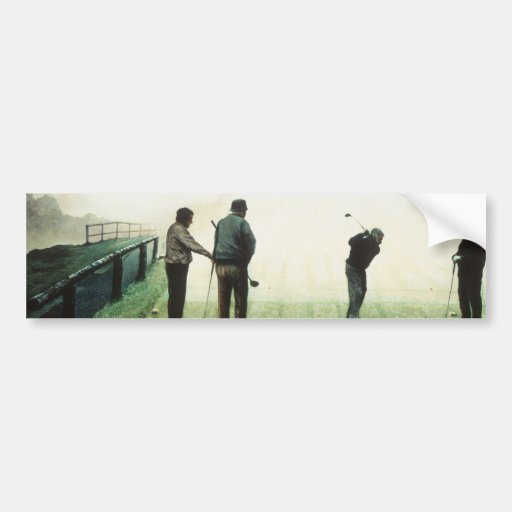 """No.4 """"mañana del otoño"""" por Ron McGill Pegatina De Parachoque"""