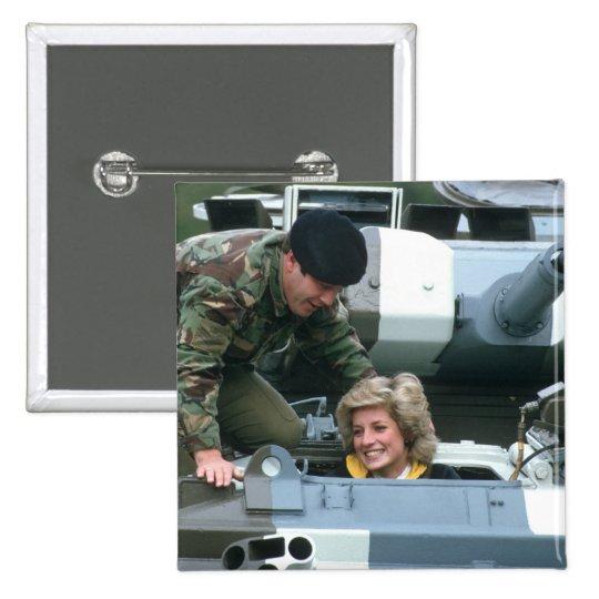 No.50 princesa Diana Alemania 1985 Pin Cuadrado