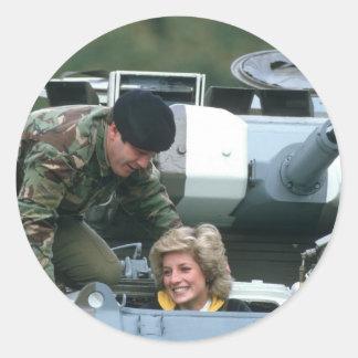 No.50 Princess Diana Germany 1985 Classic Round Sticker