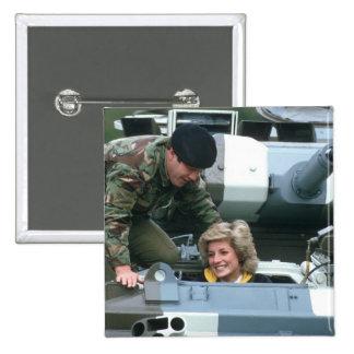 No.50 Princess Diana Germany 1985 Pinback Button