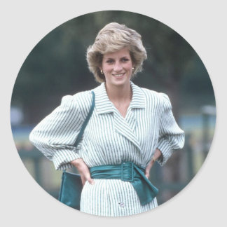 No.52 Princess Diana, Windsor 1985 Classic Round Sticker