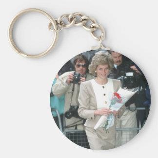 No.54 princesa Diana Londres 1989 Llavero Redondo Tipo Pin