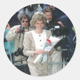No.54 princesa Diana Londres 1989 Etiquetas Redondas