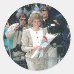 No.54 princesa Diana Londres 1989 Pegatina Redonda