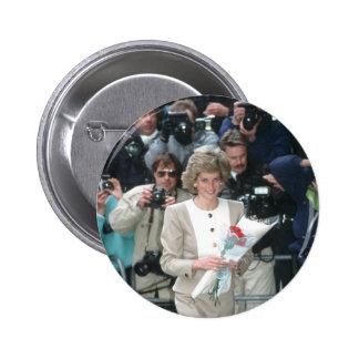 No.54 Princess Diana London 1989 Pinback Button