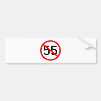 No 55 car bumper sticker