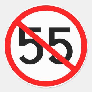 No 55 classic round sticker