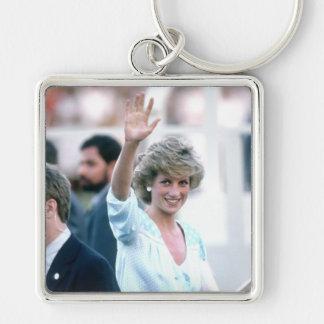No.55 princesa Diana la Florida los E.E.U.U. 1985 Llavero Cuadrado Plateado