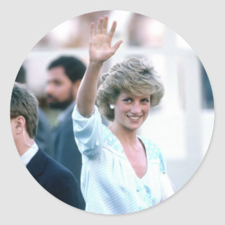 No.55 Princess Diana Florida USA 1985 Classic Round Sticker