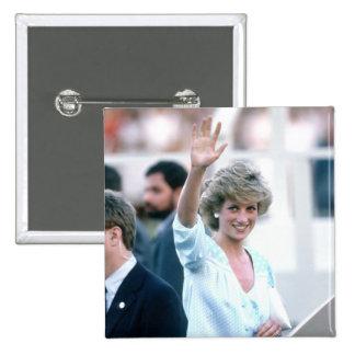 No.55 Princess Diana Florida USA 1985 Pinback Button