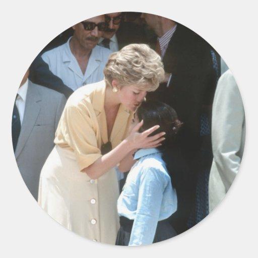 No.56 princesa Diana Egipto 1992 Pegatina Redonda