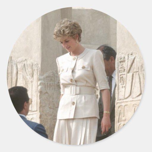 No.57 Princess Diana Egypt 1992 Classic Round Sticker