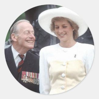 No.58 princesa Diana Londres 1989 Pegatinas Redondas