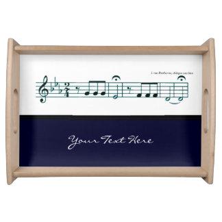 No 5 azul de la sinfonía de Beethoven Bandeja