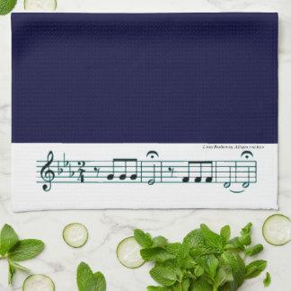 No. 5 (azul) de la sinfonía de Beethoven Toalla De Cocina