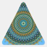 No. 5 del caleidoscopio de los azules de la aguama pegatinas triangulo personalizadas