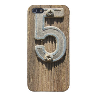 No. 5 On Wood  Cover For iPhone SE/5/5s