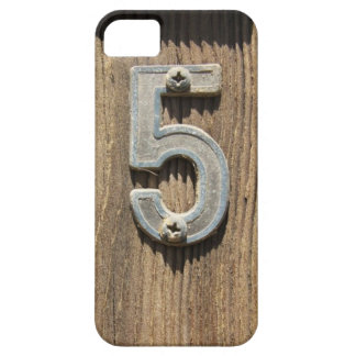 No. 5 On Wood iPhone 5 Case