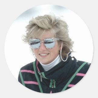 No.5 Princess Diana, Austria 1988 Round Sticker