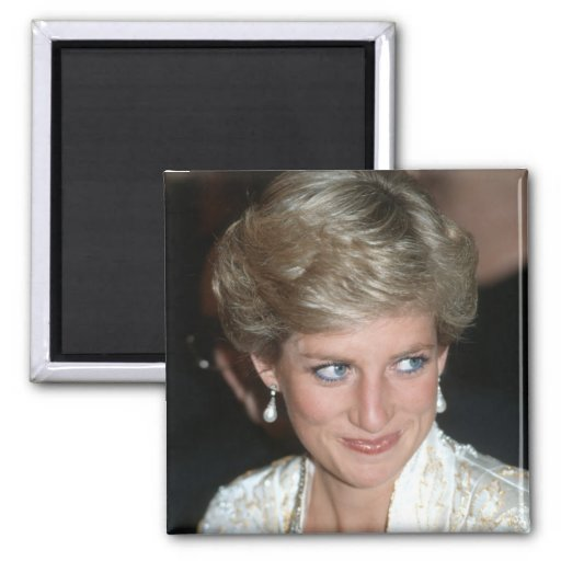 No.64 princesa Diana New York City 1989 Imán Cuadrado