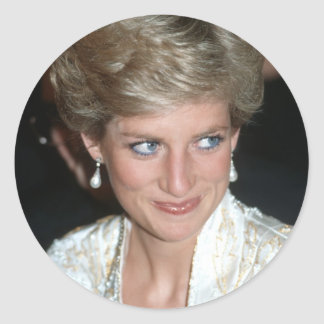 No.64 princesa Diana New York City 1989 Pegatina Redonda