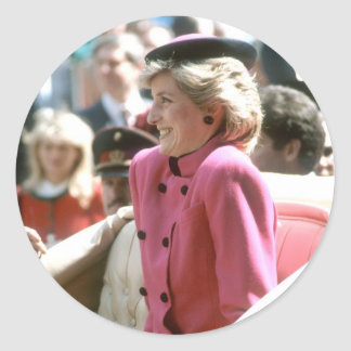 No.65 princesa Diana Viena 1986 Pegatinas Redondas