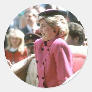 No.65 princesa Diana Viena 1986 Pegatina Redonda