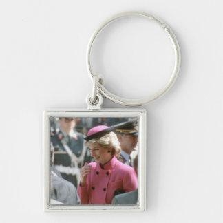 No.66 princesa Diana Viena 1986 Llavero Cuadrado Plateado