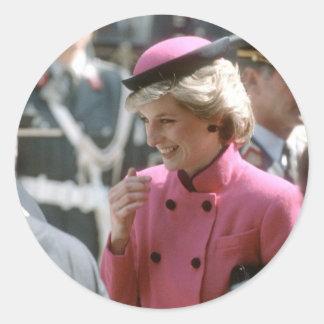 No.66 Princess Diana Vienna 1986 Classic Round Sticker