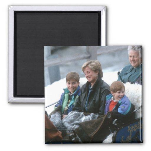 No.69 Guillermo, Diana y Harry Lech 1993 Imanes Para Frigoríficos